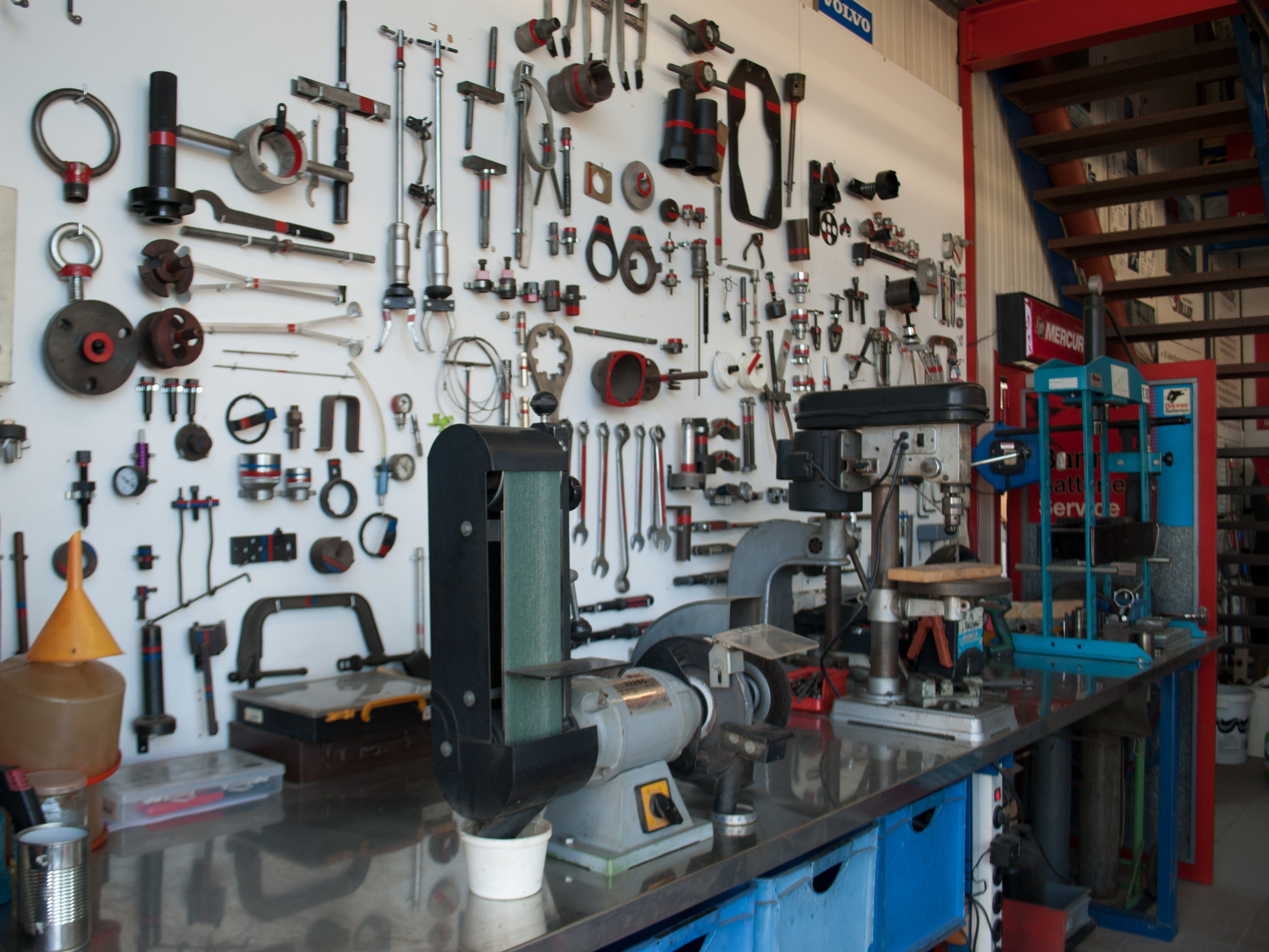 Werkstatt mit Werkzeuge